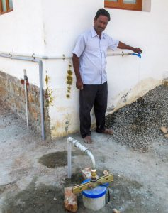 Second village gets new bore well