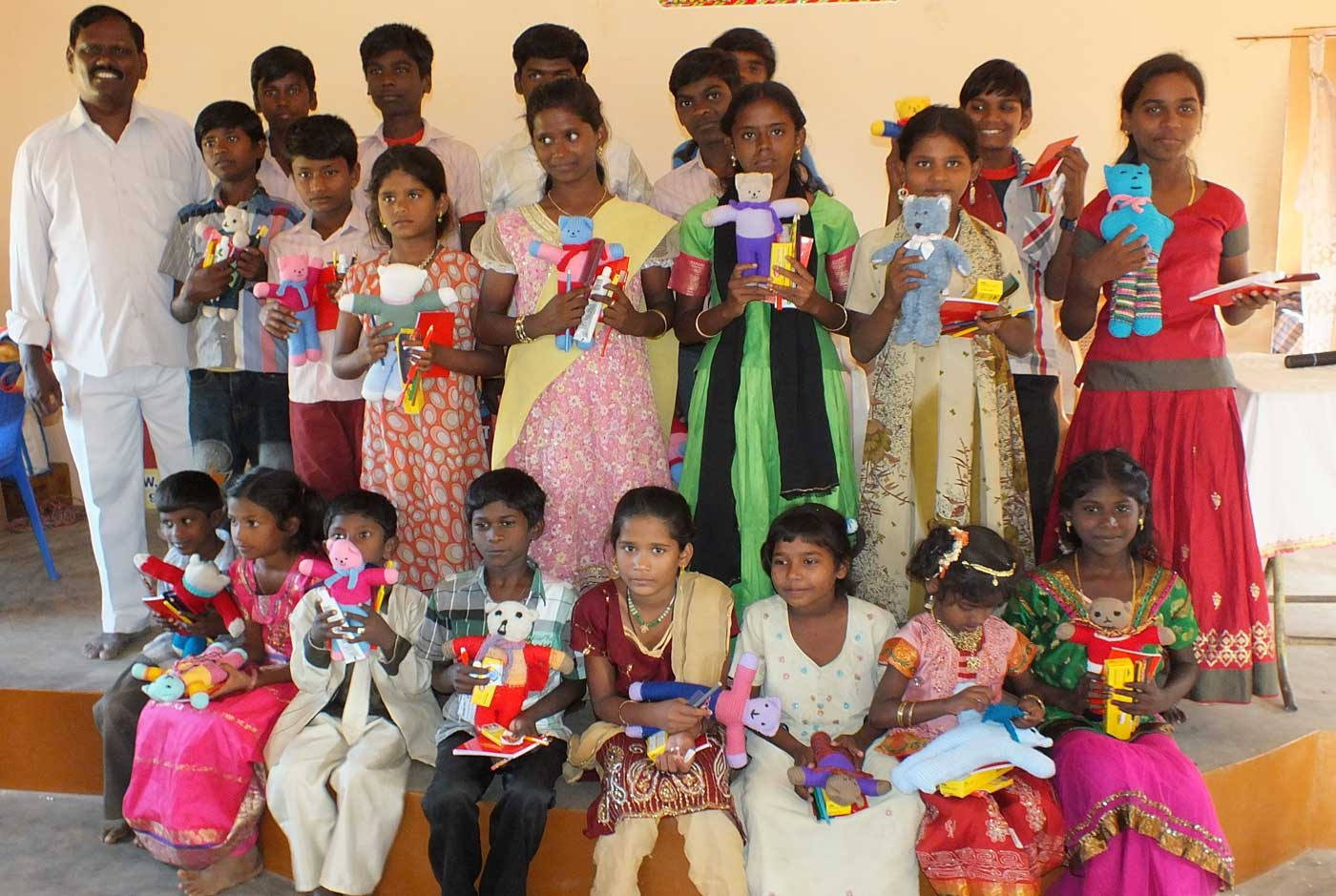 Orphans with gifts