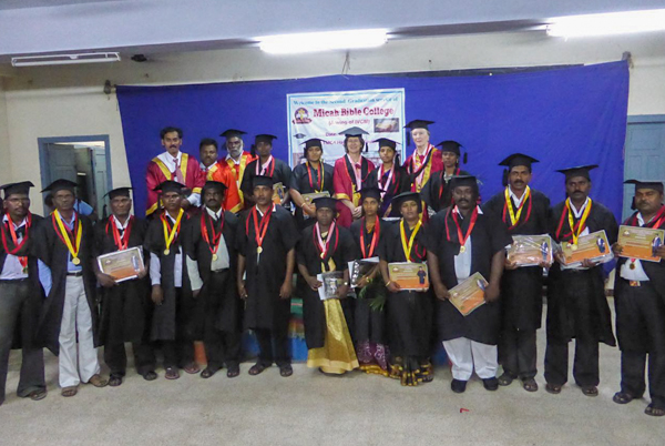 Group of Micah Bible students at their graduation