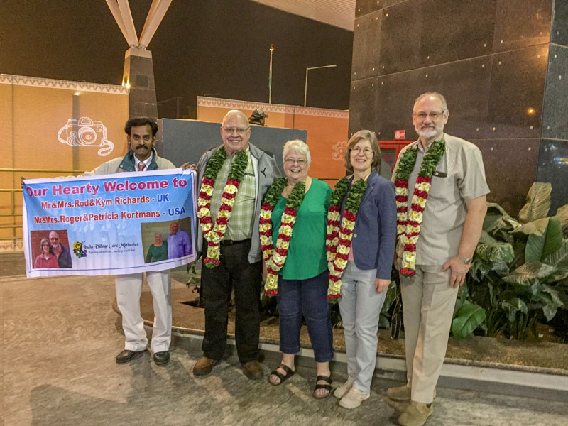 Uk mission team arrive at Bangalore airport