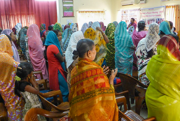 Worship during a women's meeting