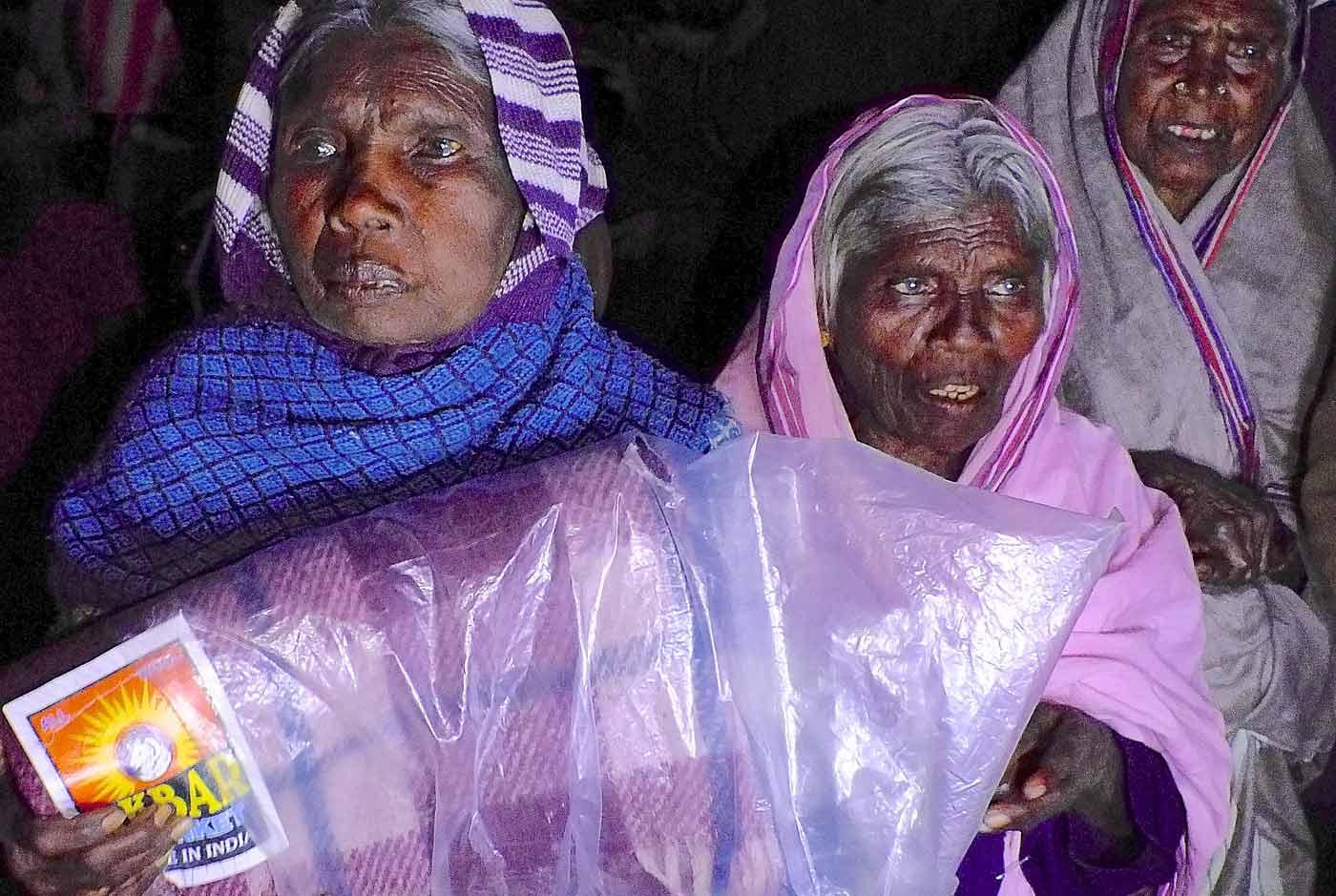 Women, blankets