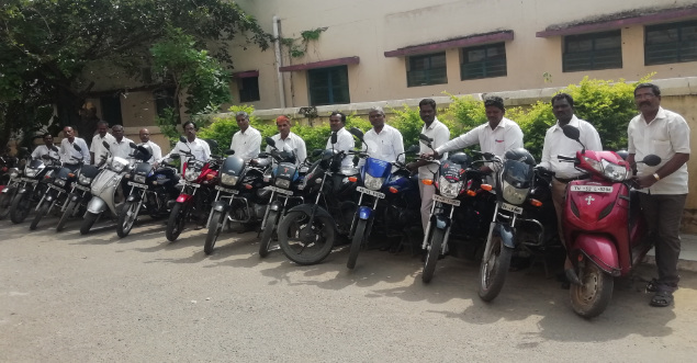 Pastors with their bikes
