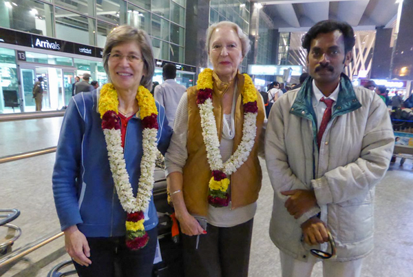 Mission team arrive at Bangalore Airport