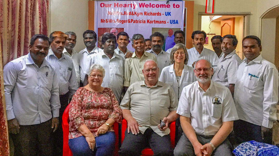Group photo of Mission team together with Pastors