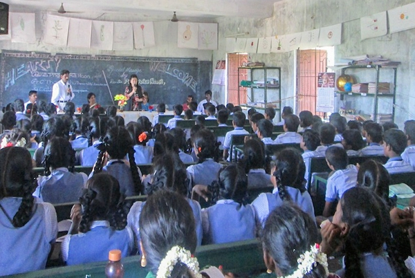 Singapore mission Team holding a school outreach meeting